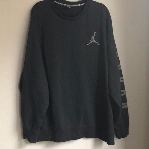 Black Air Jordan Sweatshirt Logo
